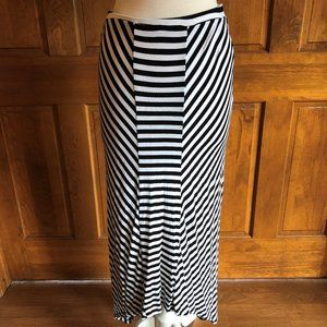Design History Striped High Low Maxi Skirt Large